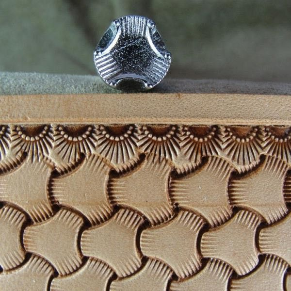 Leather Stamping Tool - Large Tri-Weave Stamp
