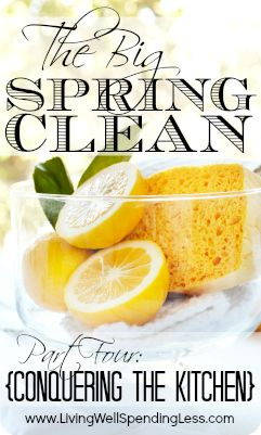 How to Deep Clean Your Kitchen {Step-by-step guide for cleaning & organizing every square inch!} Includes a super cute free printable checklist!