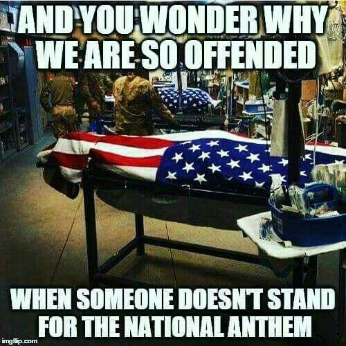 "SHOW RESPECT To Those Who Gave EVERYTHING So We Can LIVE In The United States of America , STAND UP FOR OUR AMERICAN FLAG AND NATIONAL ANTHEM ""GOD Bless America"""