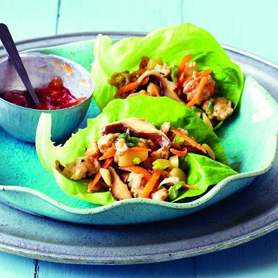 Sesame-chicken lettuce wraps recipe - Chatelaine.com