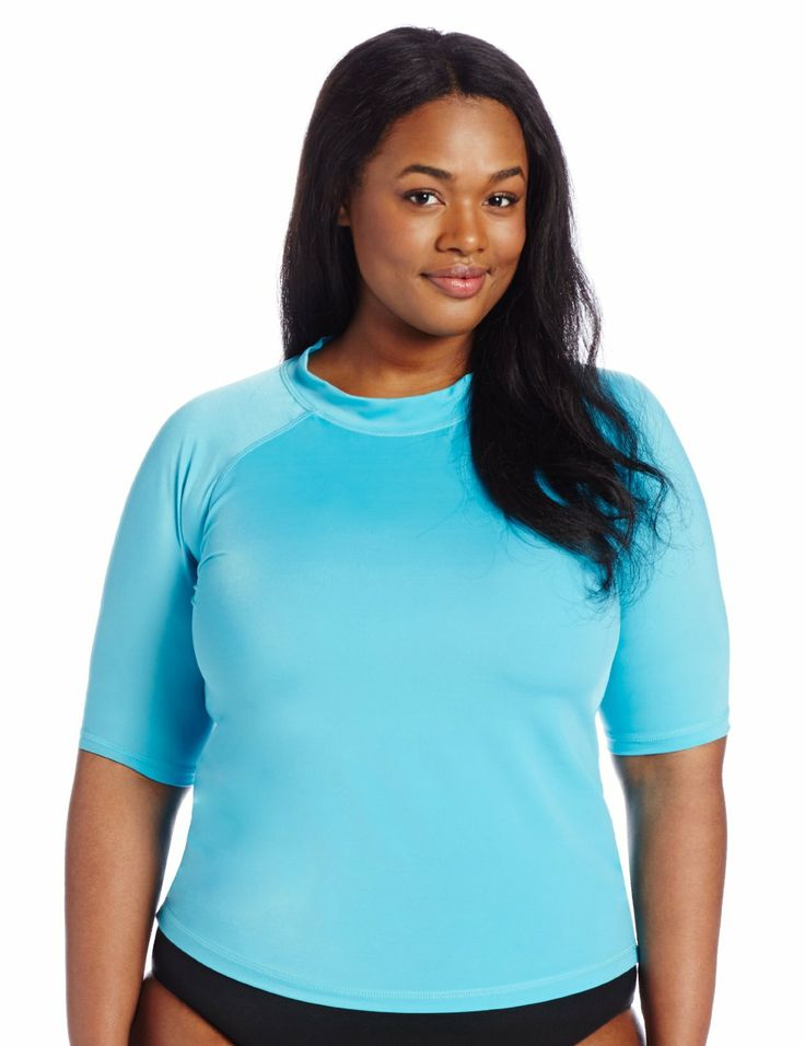 17 best images about sun safety on pinterest wear for Plus size womens rash guard swim shirts