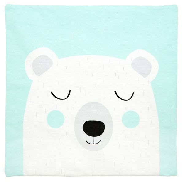 Grizzly Bear Scatter Cushion Cover   45 cm x 45 cm   Available in Aqua or Pink http://littlelovekids.com/product/bear-scatter-cushion/