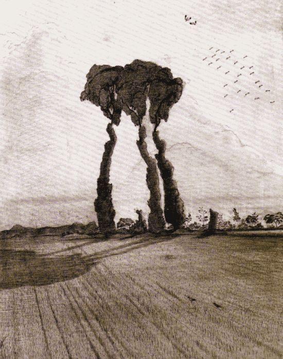 Paul Nash, The Three, 1912
