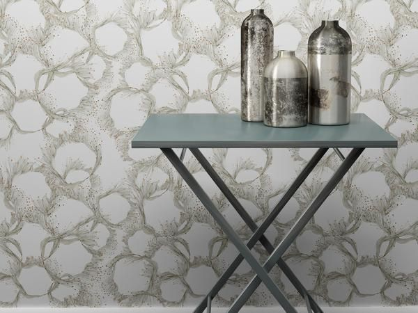 Sea Lace Wallpaper Collection designed by Sara Phillips for Mockbee & Co. and available in an array of stunning colors, available at The Pattern Collective.