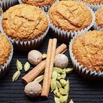 Muffins à la citrouille, au son d'avoine et aux épices