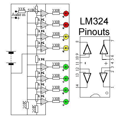 LED audio level meter