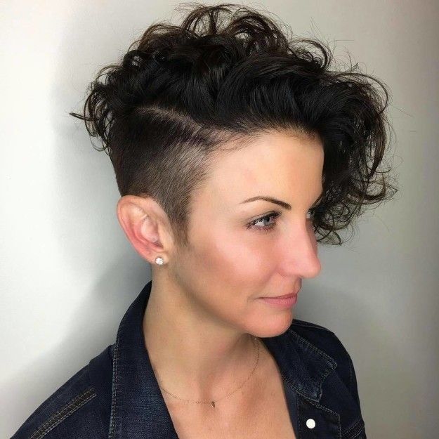 If you're feeling bold, go for a half-shaved head. | 17 Incredibly Pretty Hairstyle Ideas For Curly Hair