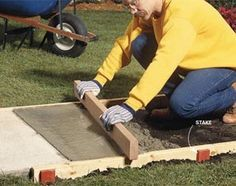 Build strong, crack-free concrete sidewalks and slabs with these 10 pro tips. Tips include forming edges, leveling, smoothing, curing and other vital steps in creating a first-rate concrete pour. Also, the 10 most common mistakes.  By the DIY experts of The Family Handyman Magazine: September 2008        Tip 1: Overbuild your forms      Tip 2: Form curves with hardboard      Tip 3: Keep stakes below the form tops      Tip 4: Put down a solid base      Tip 5: Plunge out the bubbles      Tip…