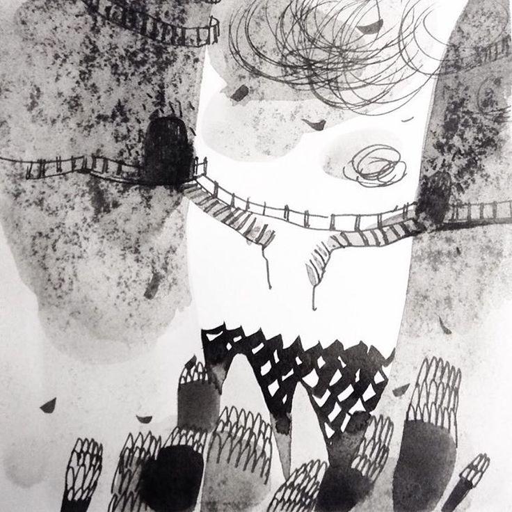 День 9. Зламаний/Broken ☁️ #teawithrosejam #inktober #inktober2016 #inkillustration #ink #draw #illustration