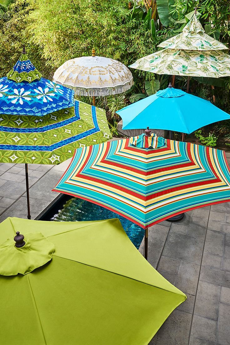 From having fun in the sun to having it made in the shade, Pier 1 has you covered with our ever-expanding umbrella collection in a variety of styles from striped to solid, traditional to eclectic—and much more.