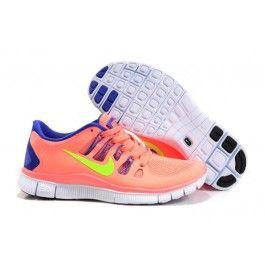 Nike Free 5.0+ Damesko Oransje Blå | Nike sko tilbud | billige Nike sko på