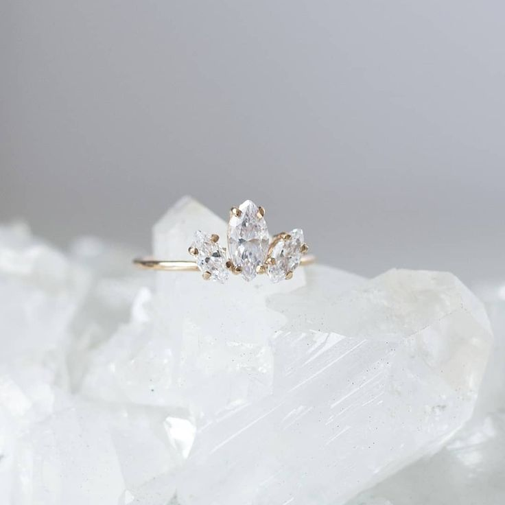 nataliemariejewellery  •  Our Marquise Sun Ring with Cubic Zirconia. Shop online now ♡