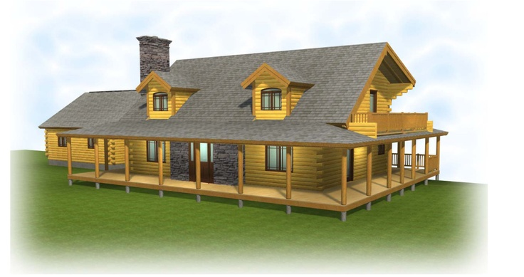 Best Artist Drawing Of The Front View Of Our Log Home We Are 400 x 300