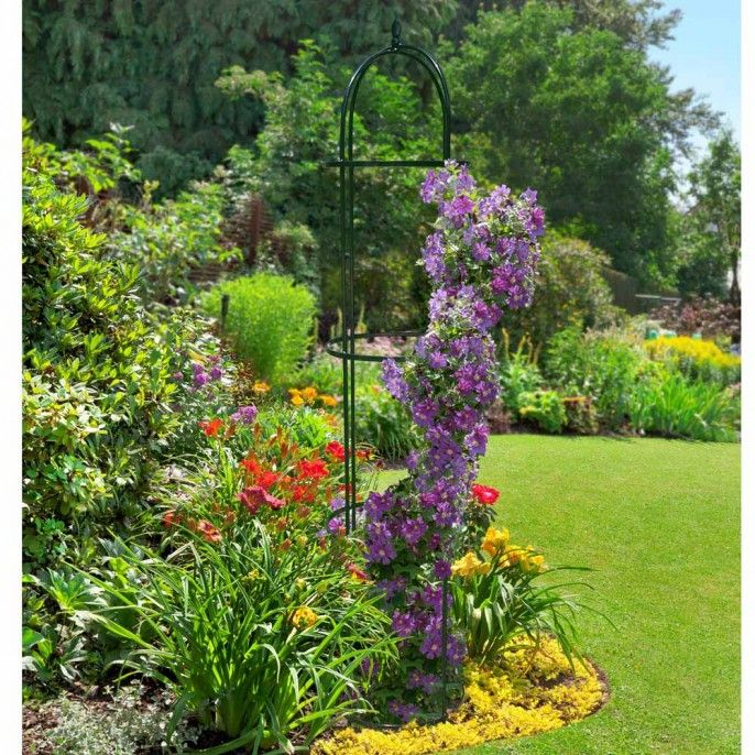 METAL GARDEN OBELISK   Poundstretcher. 17 b sta bilder om Gardening and Outdoor p  Pinterest   Tr dg rdar