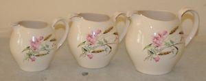 3-Vintage-Alfred-Meakin-cosecha-Modelo-jarros-12-5cm-11-5cm amperios-10cm-en-altura