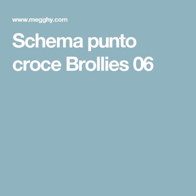 Schema punto croce Brollies 06