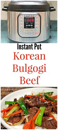 Instant Pot Korean Bulgogi Beef is a dish of thinly sliced sirloin beef that's marinated overnight and then cooked with julienned carrots, green onions and white onions. You won't believe how comforting this is!