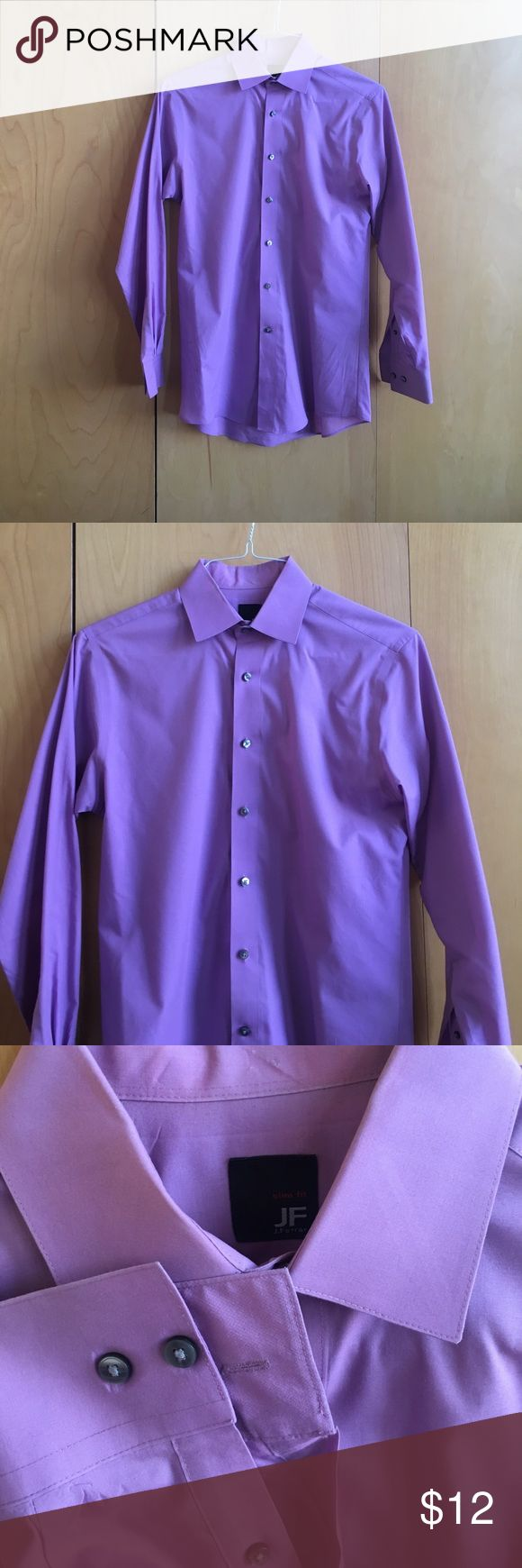 Pict j ferrar modern fit 1 - Men S Purple Dress Shirt Purple J Ferrar Slim Fit Men S Dress Shirt Size Small