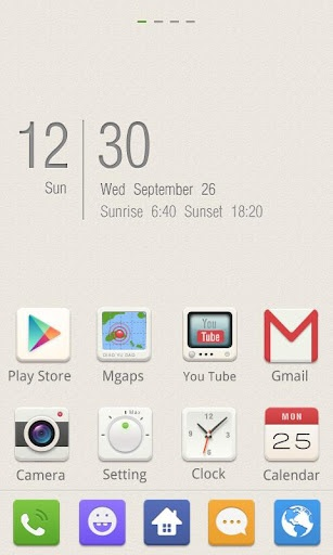 Smile GO Launcher EX Theme, specially designed for GO Launcher EX, provides delicate app icons, wallpapers, folder and app drawer interface