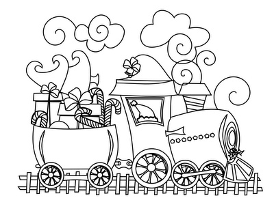17 best images about christmas 2013 trains on pinterest for Christmas train coloring page
