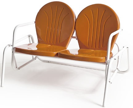Buy Retro Metal Lawn Furniture Here   Bellaire Double Glider   For The Patio ,yard