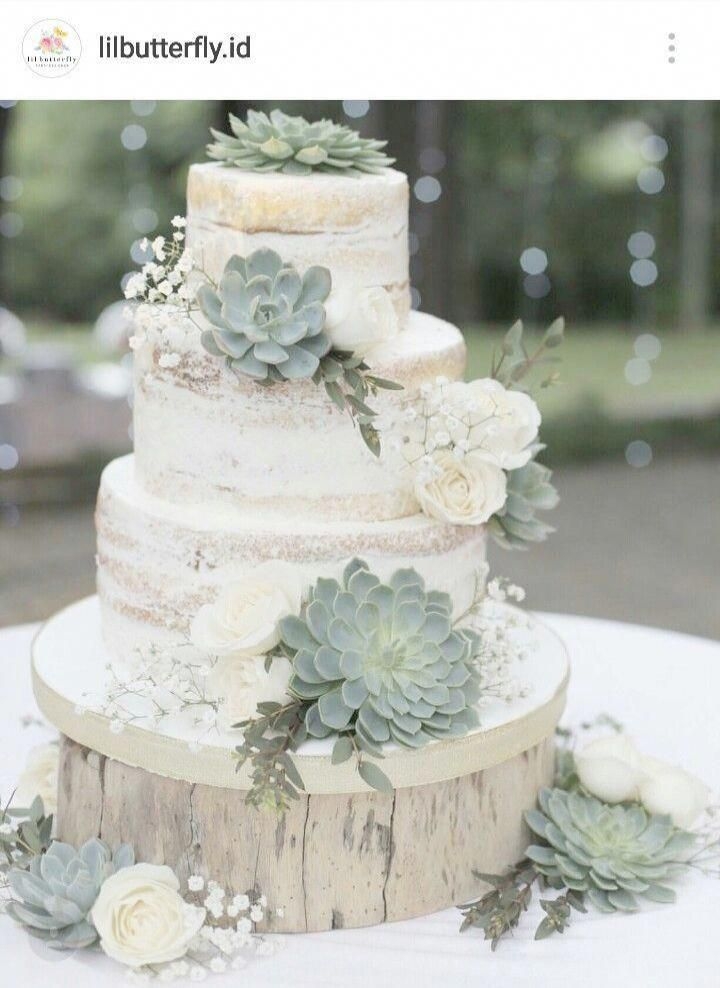 Usually Wedding Cakes Are Is The Traditional Cake Being Dished Up To The Guests At The In 2020 Succulent Wedding Cakes Wedding Cake Decorations Country Wedding Cakes