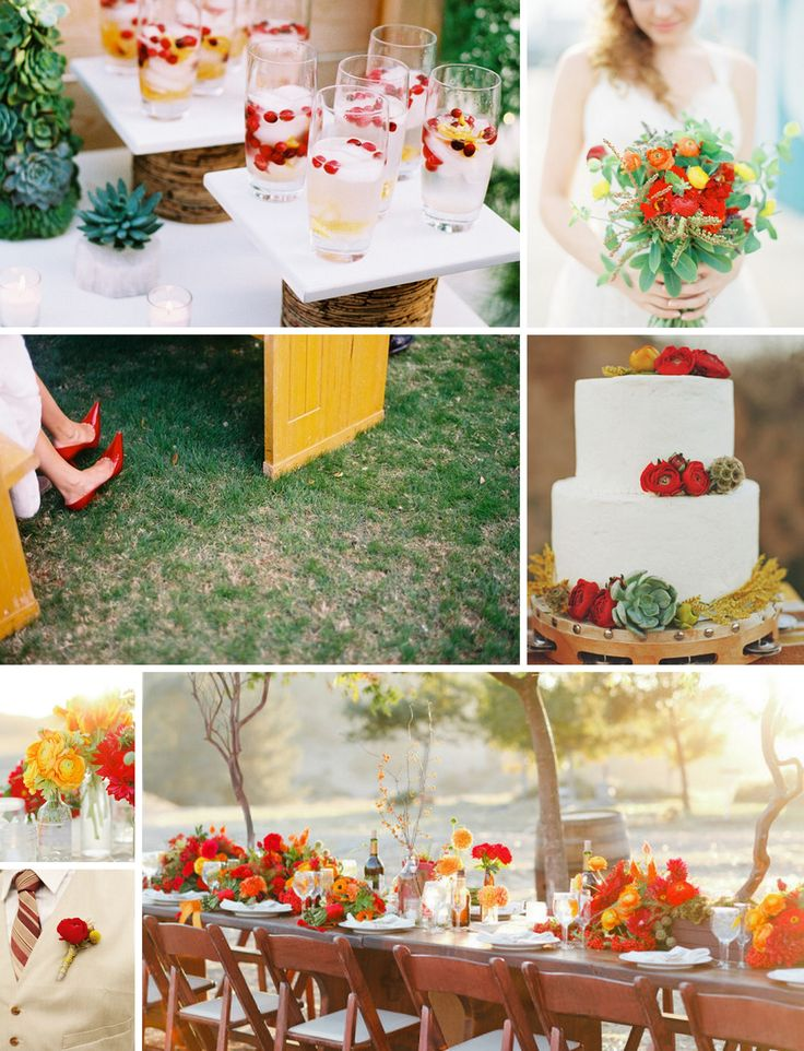 27 best Yellow Red Orange Wedding images on Pinterest Dreams
