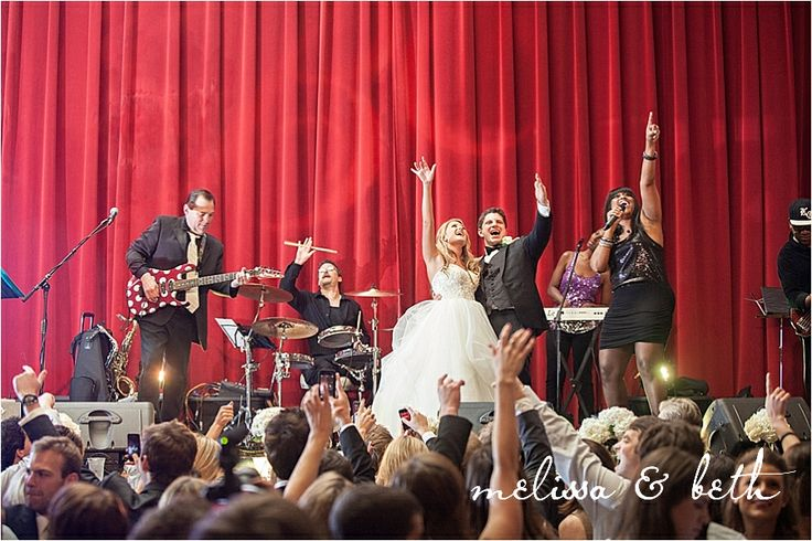 Best Wedding Reception ever! Live Band at your reception is a must!! Kansas City Wedding Venue | Madrid Theatre Wedding | Kansas City Wedding Photographers #melissaandbeth #weddingphotographers #kansascity #wedding #reception #madrid