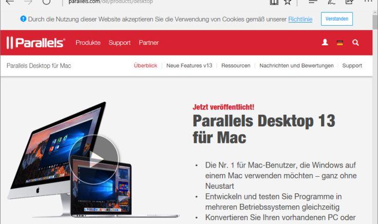 Parallels Desktop 13 für Mac ist da – erstmalig können Windows-Anwendungen in die Mac Touch Bar integriert und die Windows People Bar auf dem Mac genutzt werden