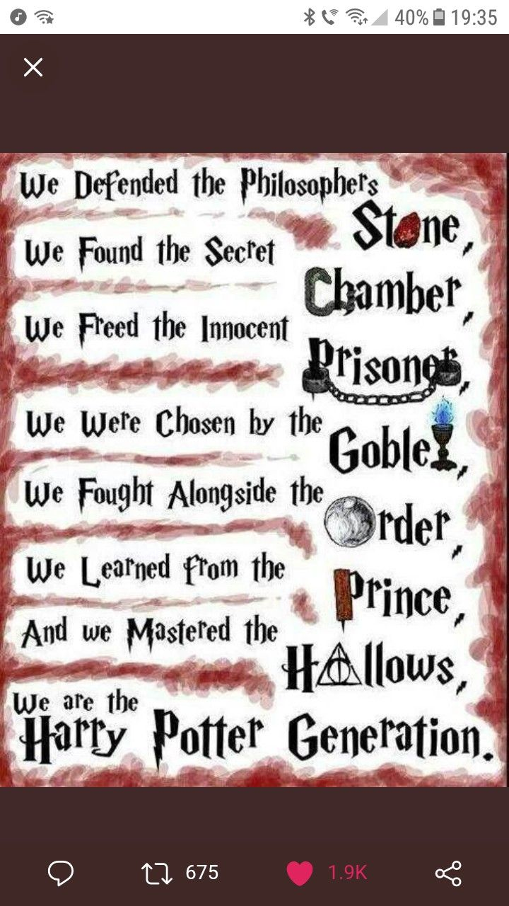 Well I M Not Old Enough To Be Part Of The Hp Generation But I M The Younger Part Of The Fandom Harry Potter Funny Harry Potter Jokes Harry Potter Universal