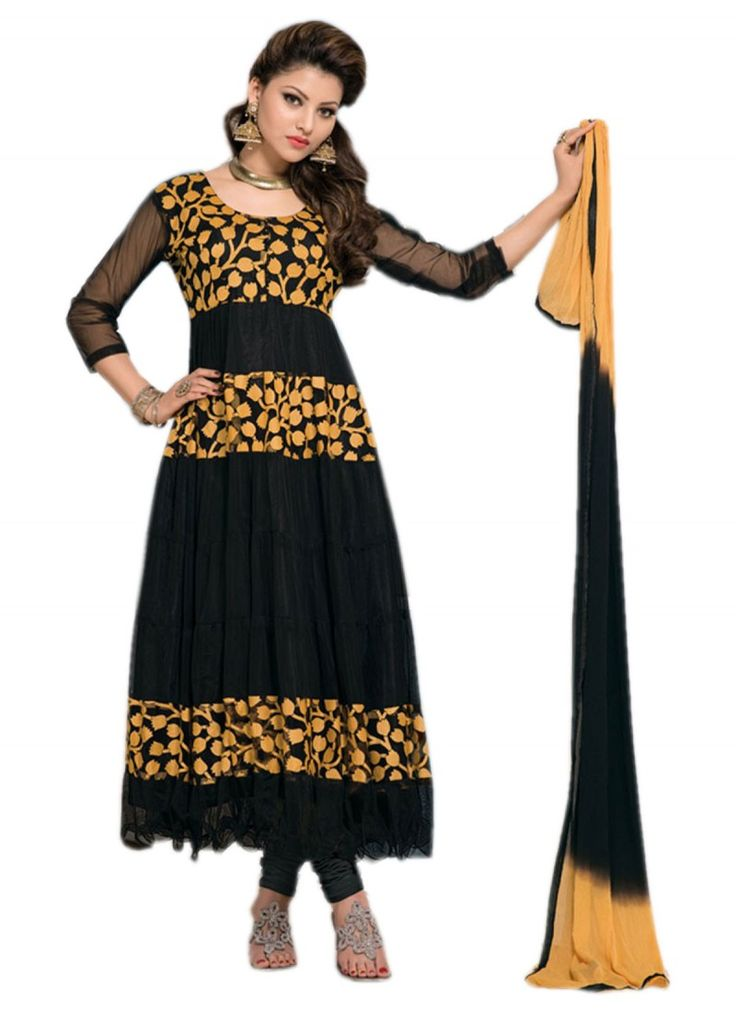 Latest Blck Brasso And Simple Anarkali Suits