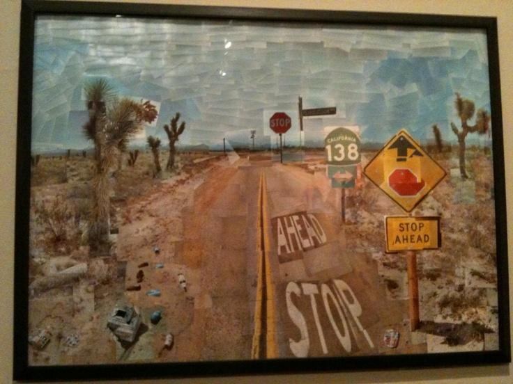 David Hockney: Pearblossom Highway (1986) — at Royal Academy of Arts.