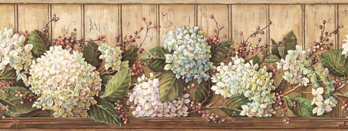 Vinilo decorativo Cenefa Flores