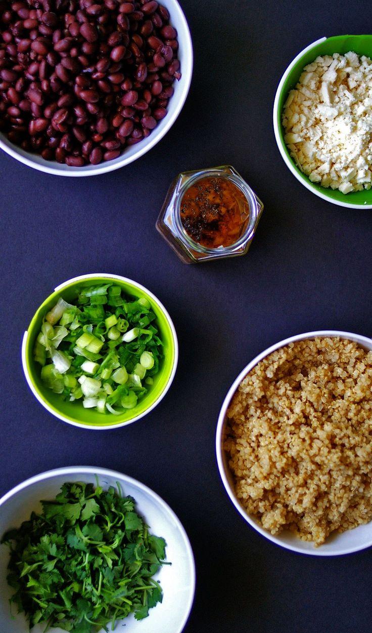 black bean quinoa salad | anutritionisteats.com