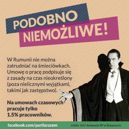 """Wszyscy wiemy, że Polska odstaje warunkami pracy od krajów skandynawskich czy Austrii. Często mówi się, że musimy być bardziej """"elastyczni"""", bo jesteśmy krajem na dorobku. To nieprawda. Inne kraje regionu, nawet biedniejsze od nas - jak Rumunia - zapewniają swoim pracownikom bardziej stabilne warunki zatrudnienia. http://partiarazem.pl"""