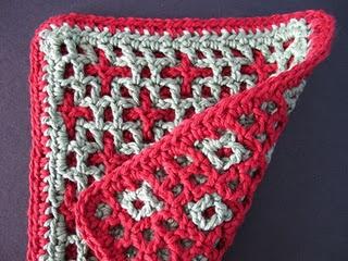Stars  Squares ~ Interlocking Crochet