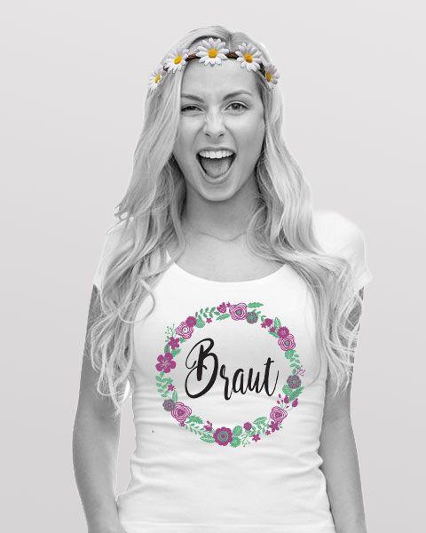 JGA Damen Outfit im BlumenDesign  JGA Sylvia in 2019  Jga shirts Jga und