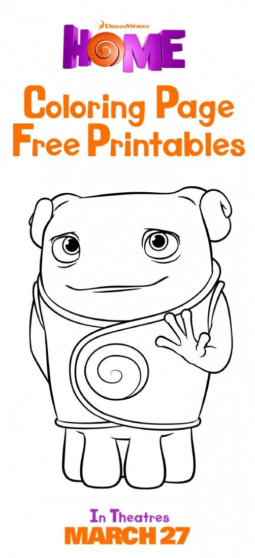 Color your favorite characters from Home. Sponsored by DreamWorks.