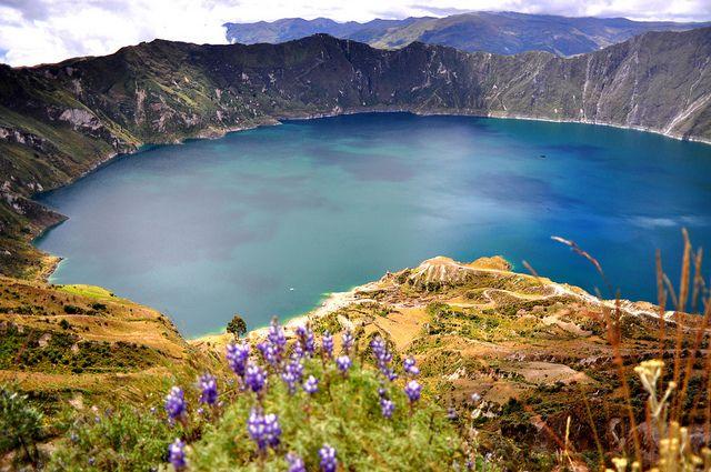 Quilotoa, Ecuador.  A beautiful crater lake.