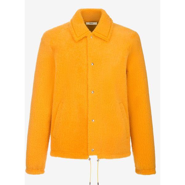 Bally Shearling Blouson Jacket Men's lamb shearling blouson jacket in... ($3,995) ❤ liked on Polyvore featuring men's fashion, men's clothing, men's outerwear, men's jackets, mens blouson jacket, mens yellow jacket, mens shearling bomber jacket, mens collared jacket and mens shearling jacket
