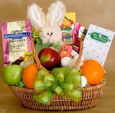 easter basket ideas~ I like to make baskets for all the women in our families great ideas here!
