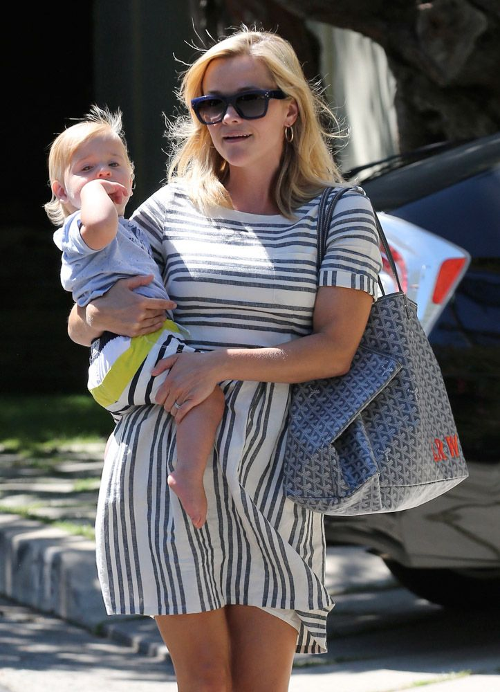 Reese Witherspoon Goyard St Louis Tote Dress Obsessed