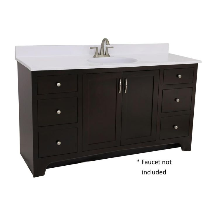 Design House Ready to Assemble 48 in. x 21 in. x 33-1/2 in. 2-Door 4-Drawer Vanity with Solid White Cultured Marble Vanity Top