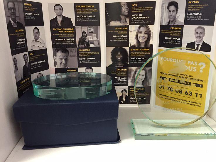 PKparis, fiers d'être lauréat 2015 du Réseau Entreprendre 94  :-)