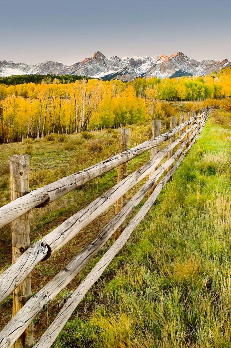 ***Rural autumn scene (near Ridgway, Colorado) by Del Higgins