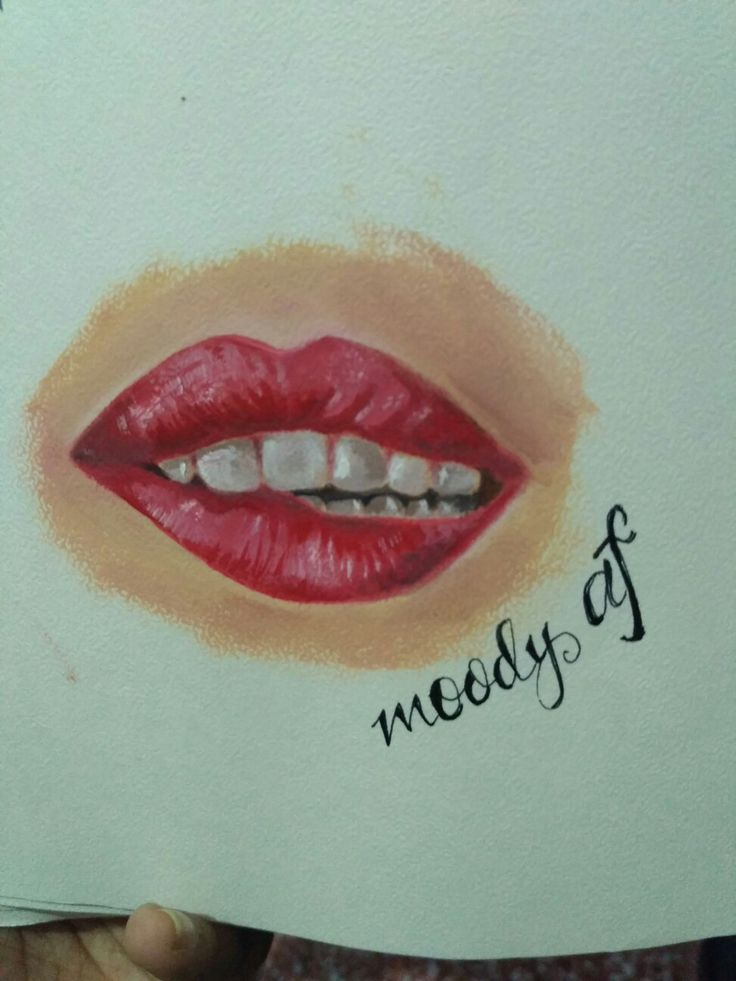 Lips painting