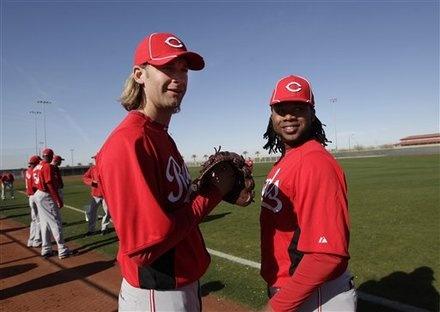 Arroyo & Cueto  Cincinnati Reds Spring Training 2012