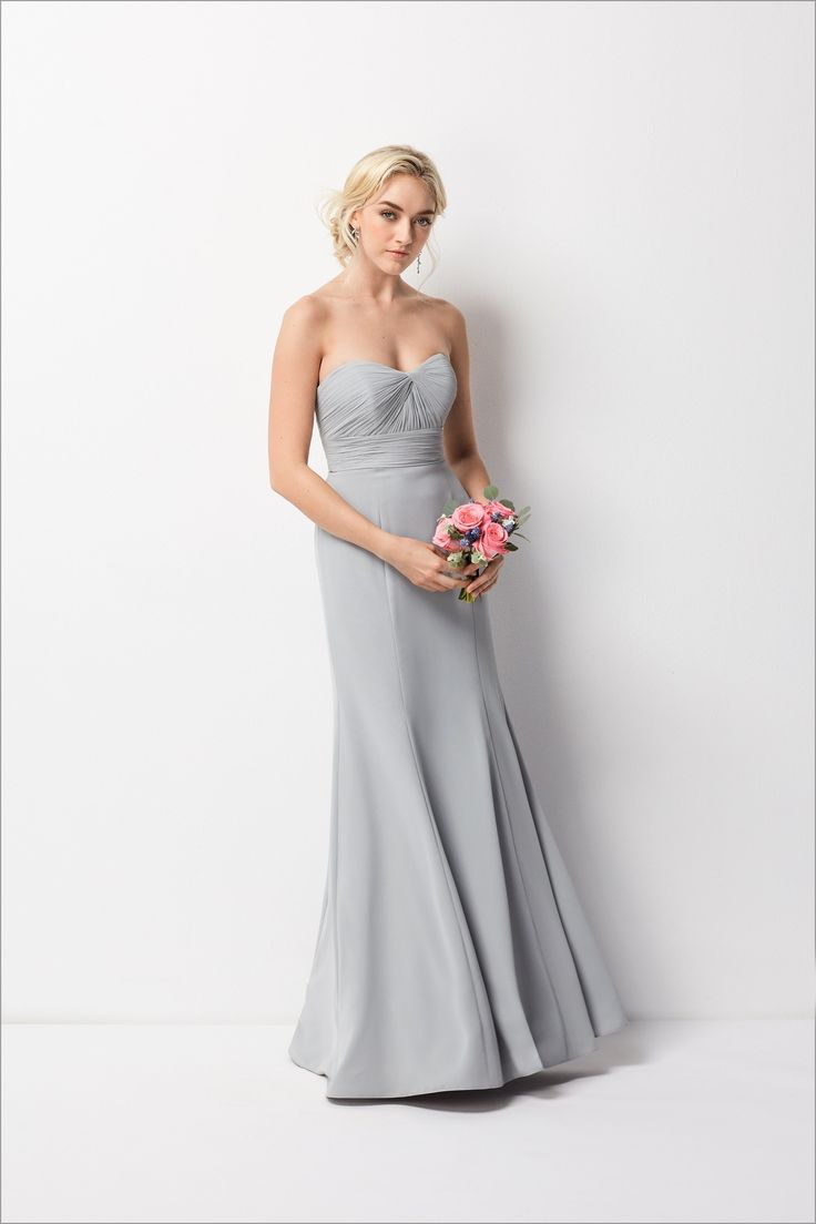 31 best dzage bridesmaids images on pinterest bridesmaids sell size 6 gray wtoo 203 is a strapless inna chiffon floor length bridesmaid dress with ruched bodice ombrellifo Choice Image