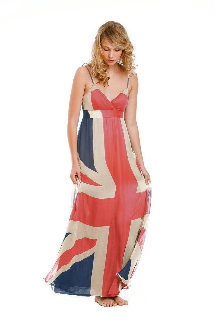 fabulous Union Jack dress in chiffon and silk