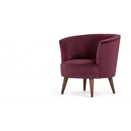 Lulu ronde stoel, Brugs bordeauxrood
